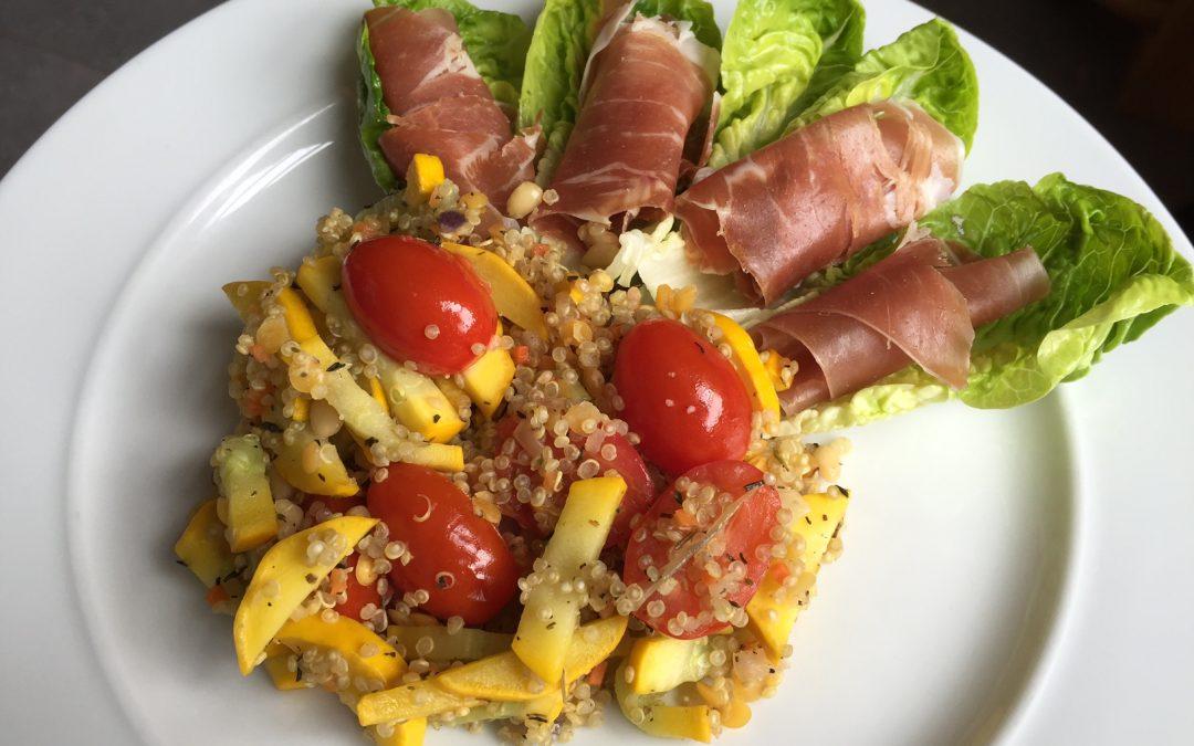 Colourful quinoa in 15 minutes