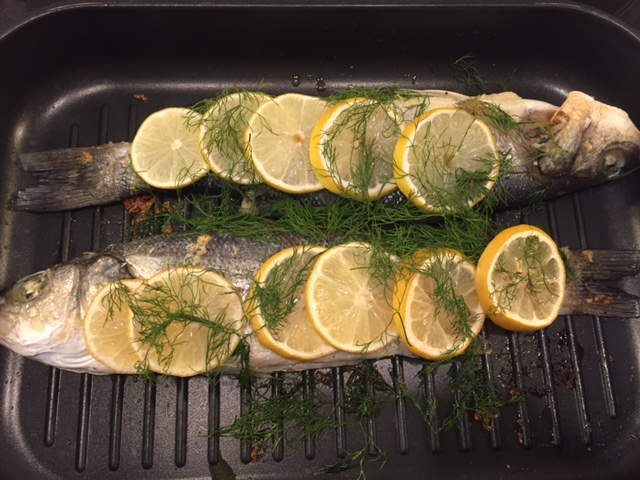 Sea bass with lemon and dill – for beginners